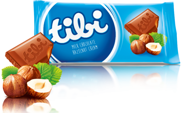 tibi milk chocolate<br>with peanuts