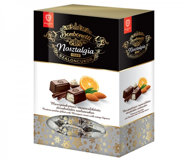 Bonbonetti Nosztaliga<br>Christmas praline filled with marzipan cream with orange liqueur