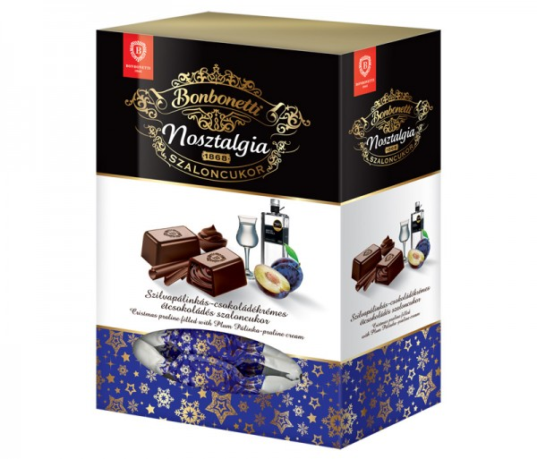 Bonbonetti Nosztalgia Christmas praline filled with plum pálinka-praline cream
