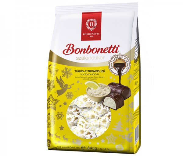 Bonbonetti dessert<br>cottage, cheese-lemon flavoured with milk chocolate