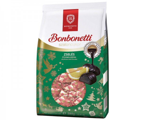 Bonbonetti dessert<br>jelly dessert with dark chocolate