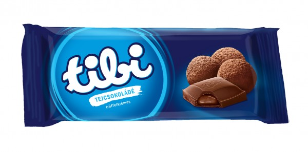 tibi milk chocolate<br>with truffles cream