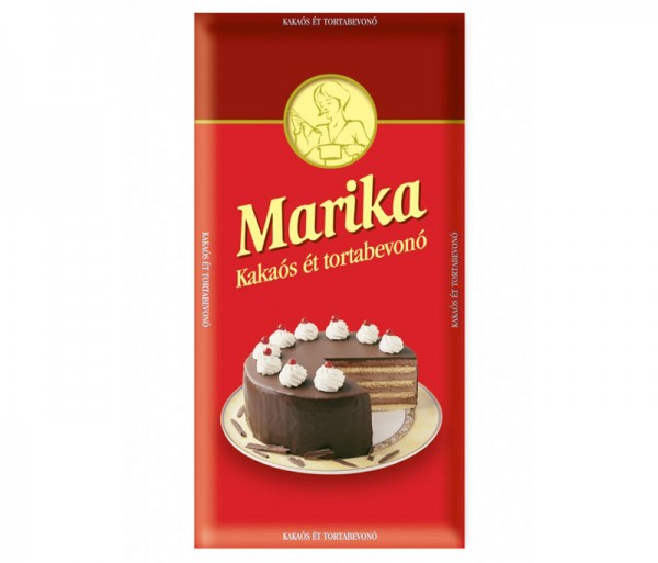 Marika cake coating with cocoa